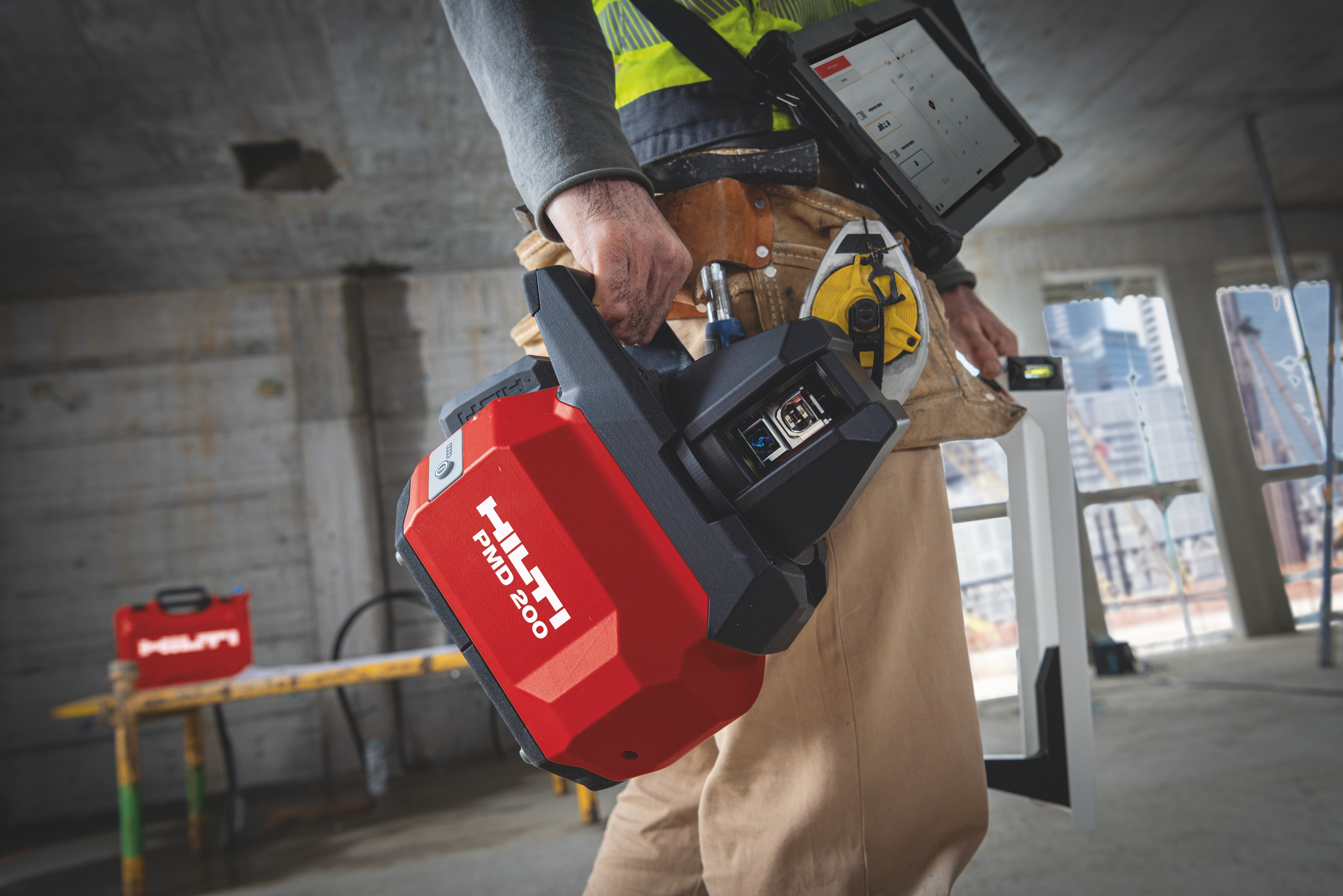 HIlti's cordless PMD 200 laser tool provides the ideal bridge between analogue and digital layout.