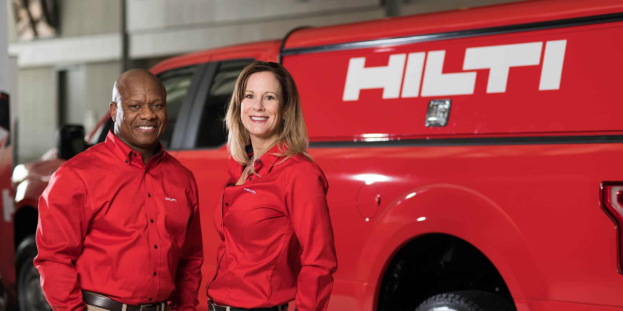 Hilti vans and account managers on the jobsite when and where you need them.