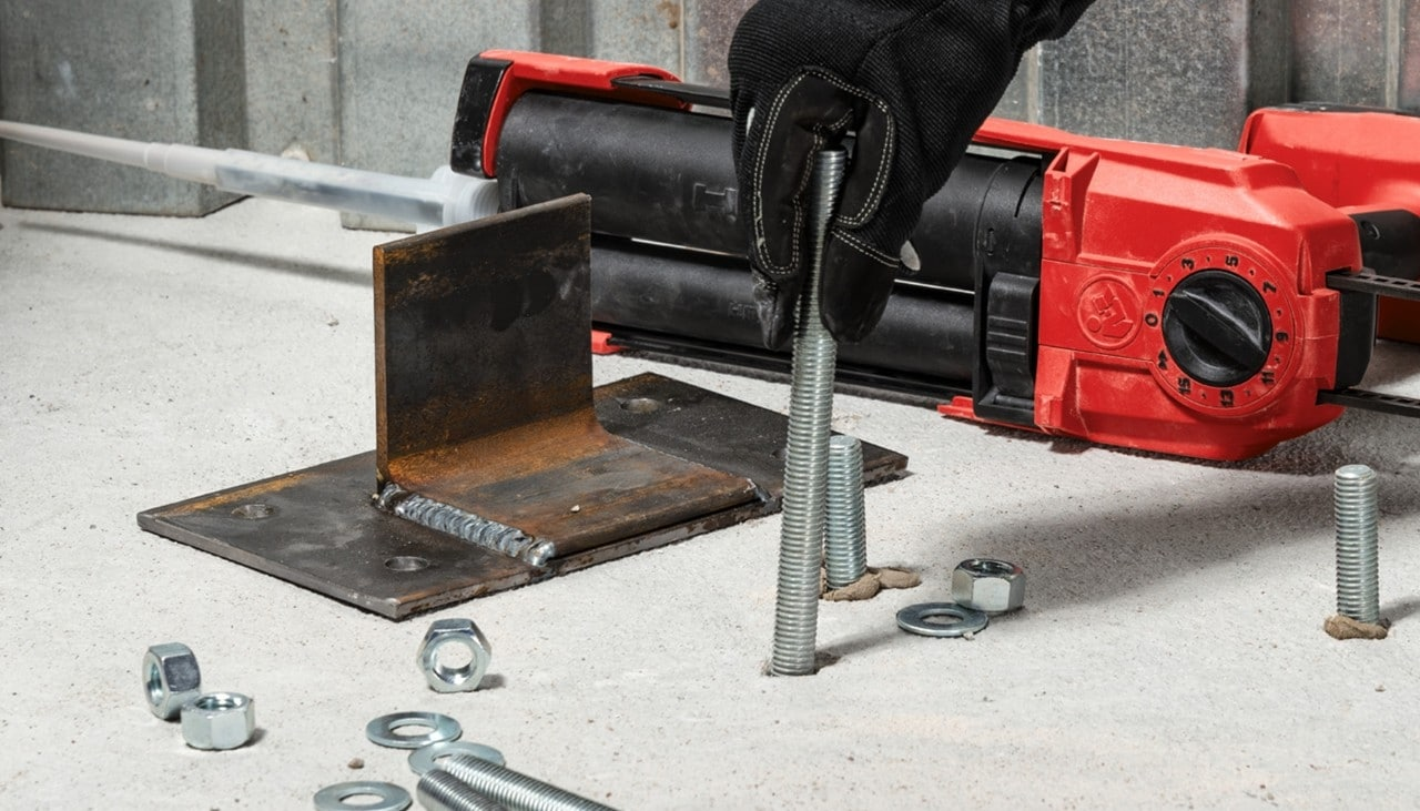 concrete anchors by Hilti
