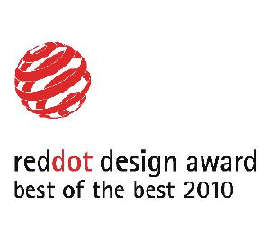 "This product has been awarded the ""Best of the Best"" Red Dot Design Award."