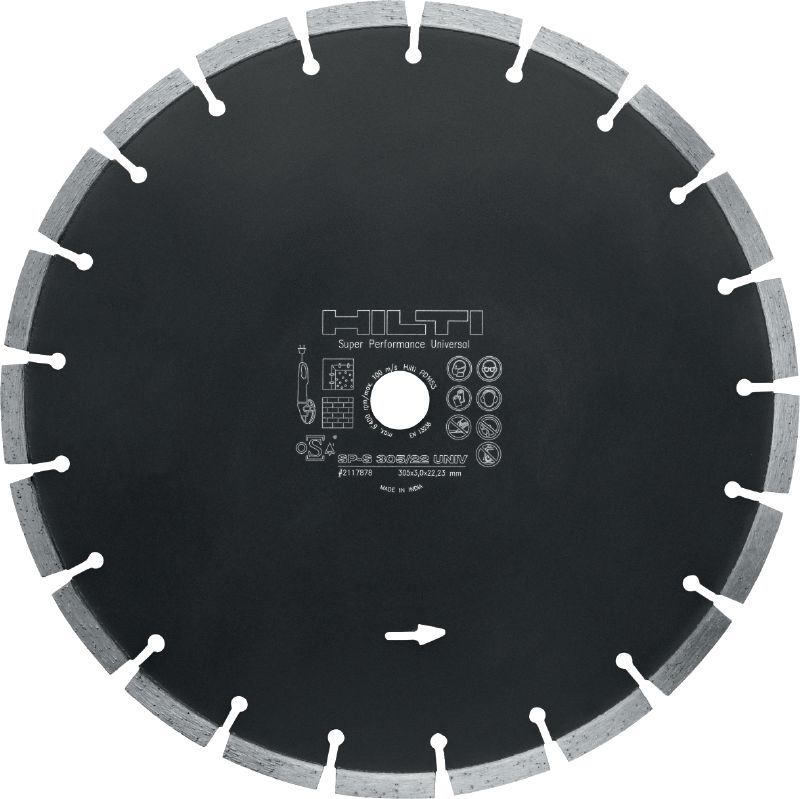 SP Universal Premium diamond blade for cutting in different base materials