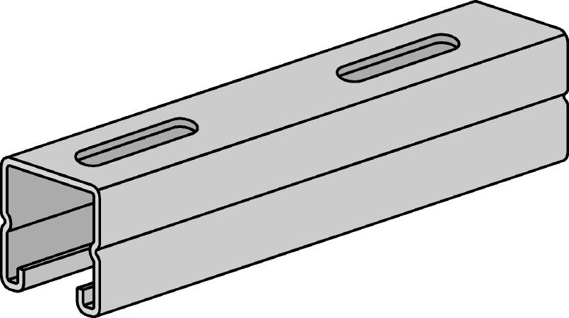 HS Hot-dip galvanized strut channels for light- to medium-duty applications 1-5/8 - 12 ga